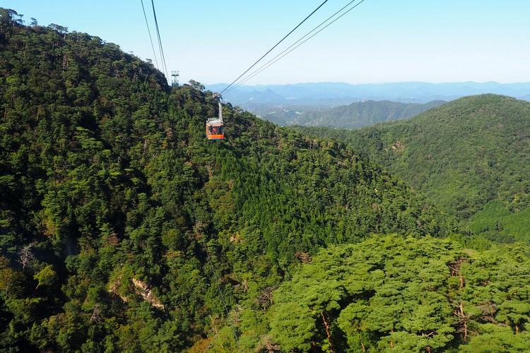 Mountain views from the Rokko-Arima Ropeway tram to Arima Onsen Hot Springs, Kobe travel guide