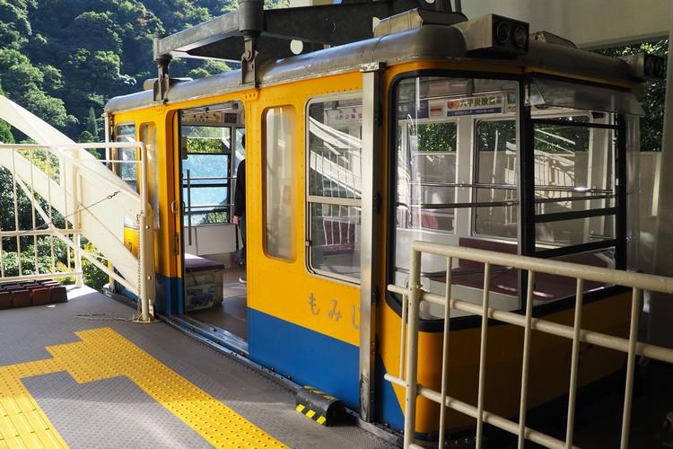 Aerial tram at Mount Rokko-Arima ropeway at Arima Onsen Station, Kobe travel guide