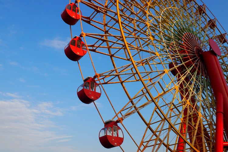 Mosaic Ferris Wheel at Kobe Harborland, Things to do in Kobe with Kids
