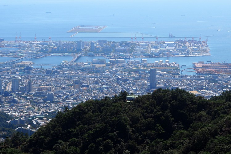 views of Kobe city from Mount Rokko viewing platform at Rokko Garden Terrace, things to do in Kobe for tourists