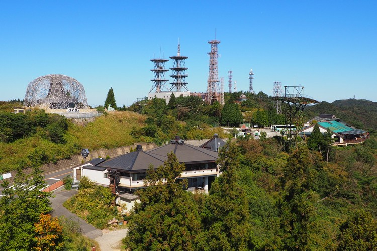 Rokko Shidare Observatory on Mount Rokko in Kobe, Japan
