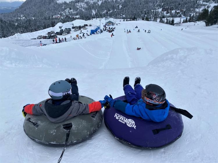 family Snow Tubing at Sasquatch Mountain Resort