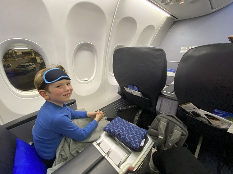Copa Airlines Business Class seats flight from San Francisco to Panama City