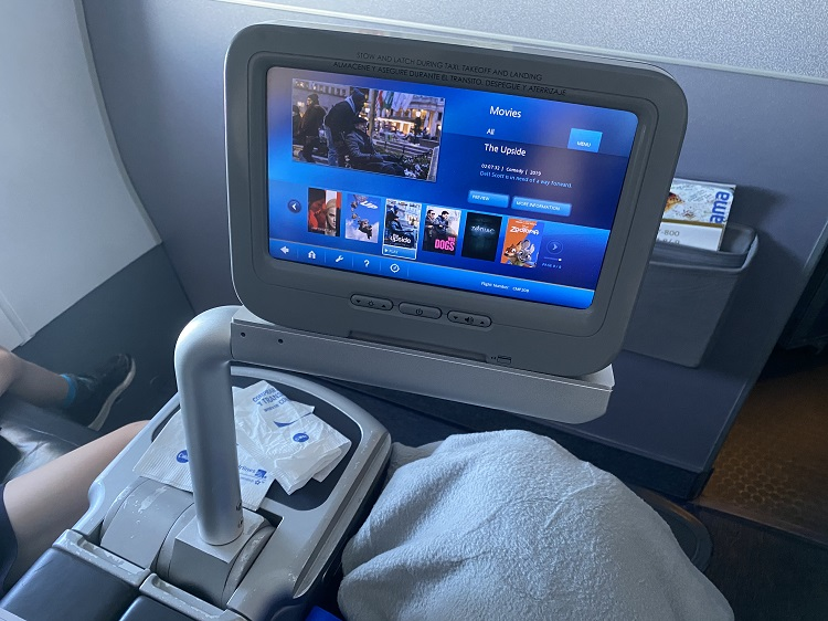 Entertainment on Copa Airlines Business Class