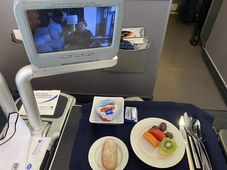 Food in Business Class on Copa Airlines