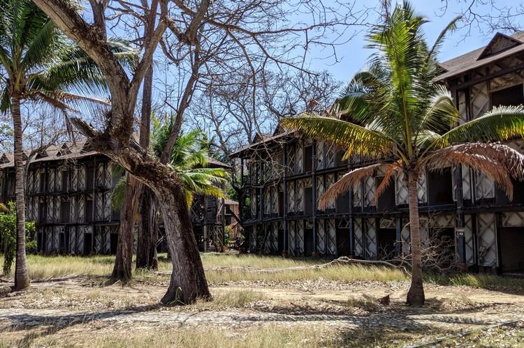crumbling buildings at the abandoned Hotel Contadora Resort in Panama