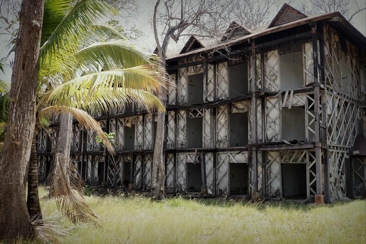 closed hotel ruins on Contadora Island Panama