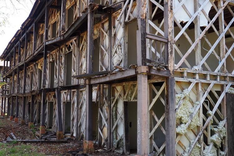 skeleton of permanently closed hotel Contadora Island Panama beach resort
