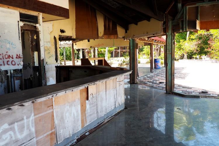 Panama hotel in ruins on Contadora Island