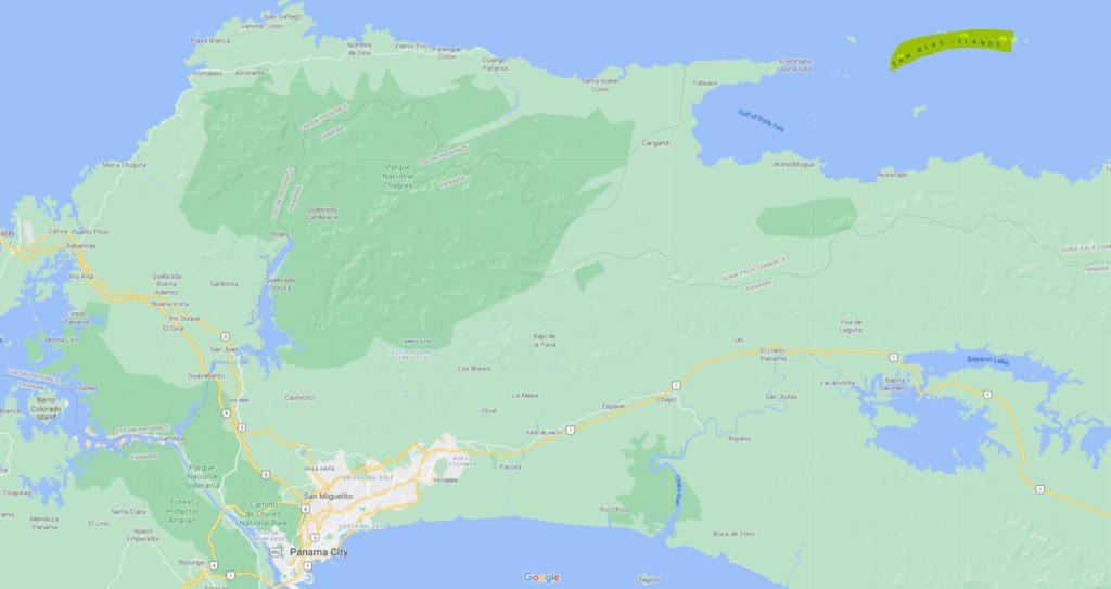 where are san blas islands located