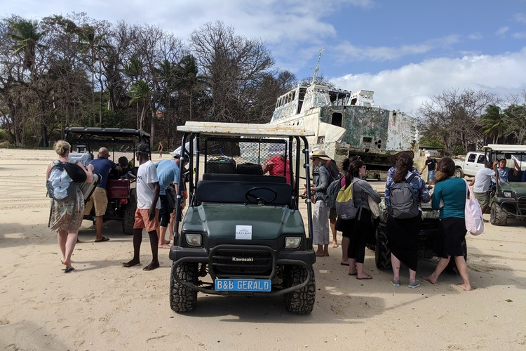 Sea Las Perlas ferry drops guests at Playa Larga on Contadora Island, Panama Pearl Islands