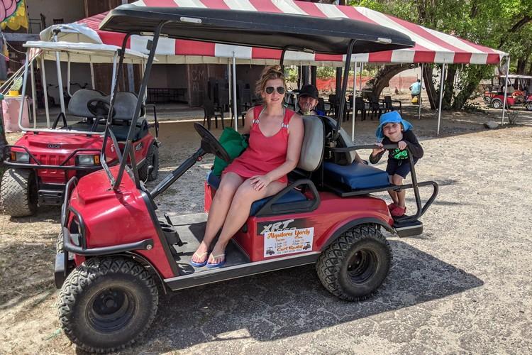 rent golf cart on Contadora Island Panama