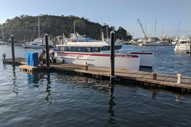 Isla Contadora ferry boat docked on Panama City, Panama