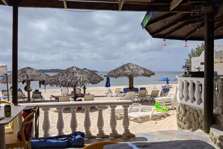 Cacique Beach Bar at Hotel Mar y Oro Contadora Island Panama beach resort