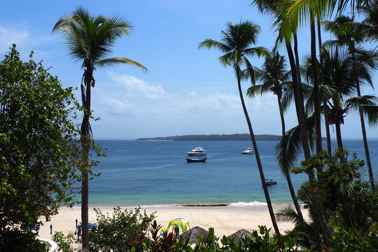 Contadora Hotel with beach, Panama travel to Pearl Islands