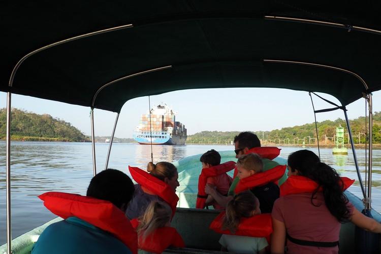 inside a river boat on the panama canal, monkey island tour from panama city, panama