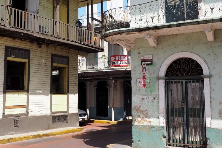 photos of Casco Viejo architecture in Panama City Old Quarter