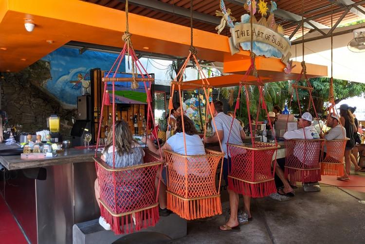 Funky bar chairs at Finca Del Mar restaurant in Panama City Panama