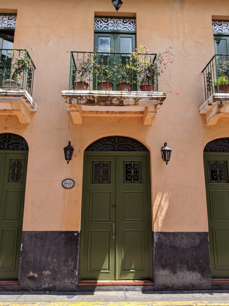 colorful door frame in Casco Viejo district in Panama City Old Town, Panama travel photos