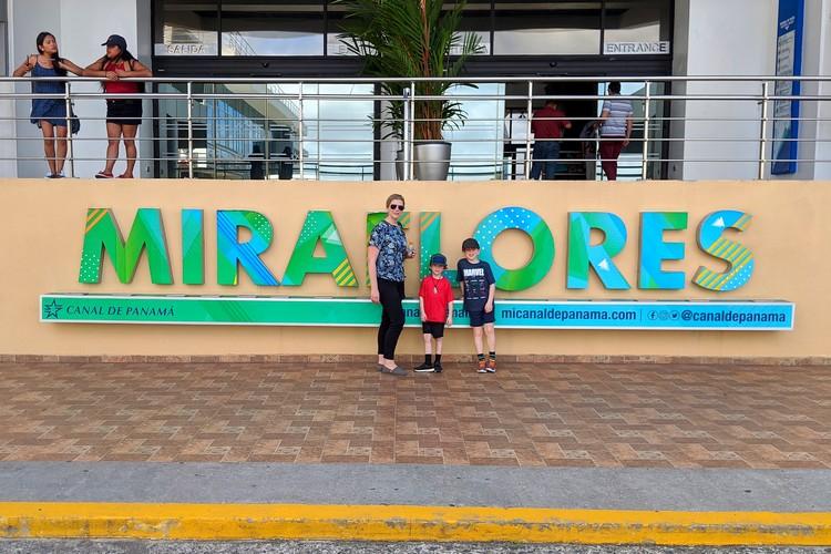 Miraflores Locks sign outside the Miraflores Visitor center, Panama City travel