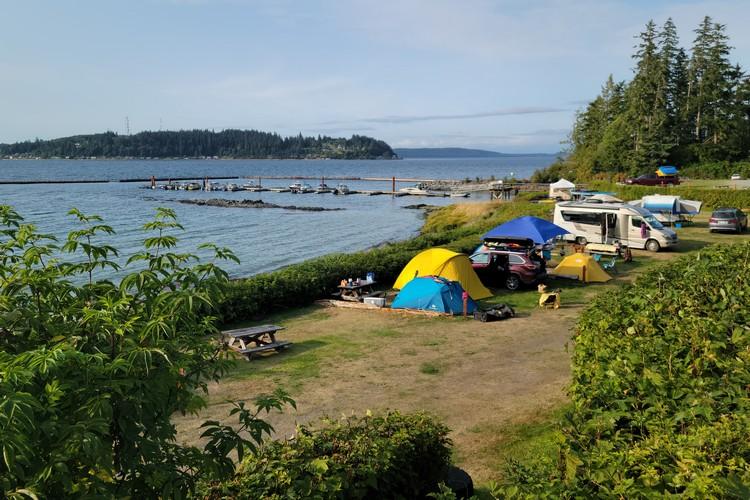 Alder Bay RV Campground in Port McNeill on Vancouver Island British Columbia