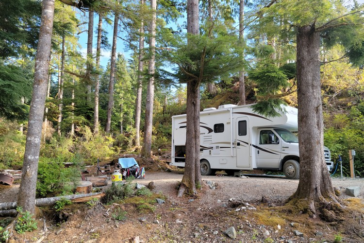 first RV camping trip Vancouver Island
